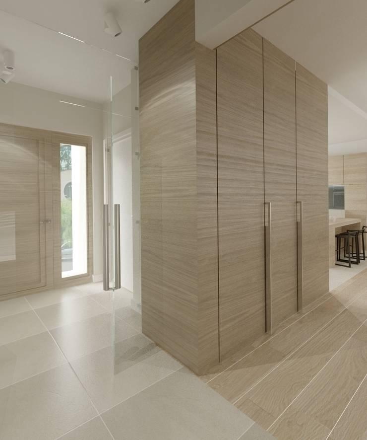 Minimalistyczny Dom Warszawa: styl , w kategorii Korytarz, przedpokój zaprojektowany przez The Vibe,