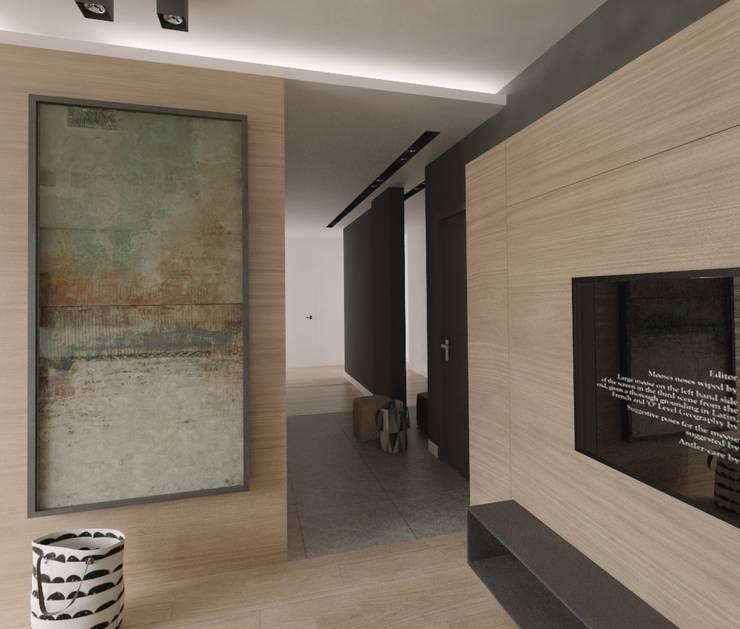 Apartament 100m2 Warszawa: styl , w kategorii Salon zaprojektowany przez The Vibe,
