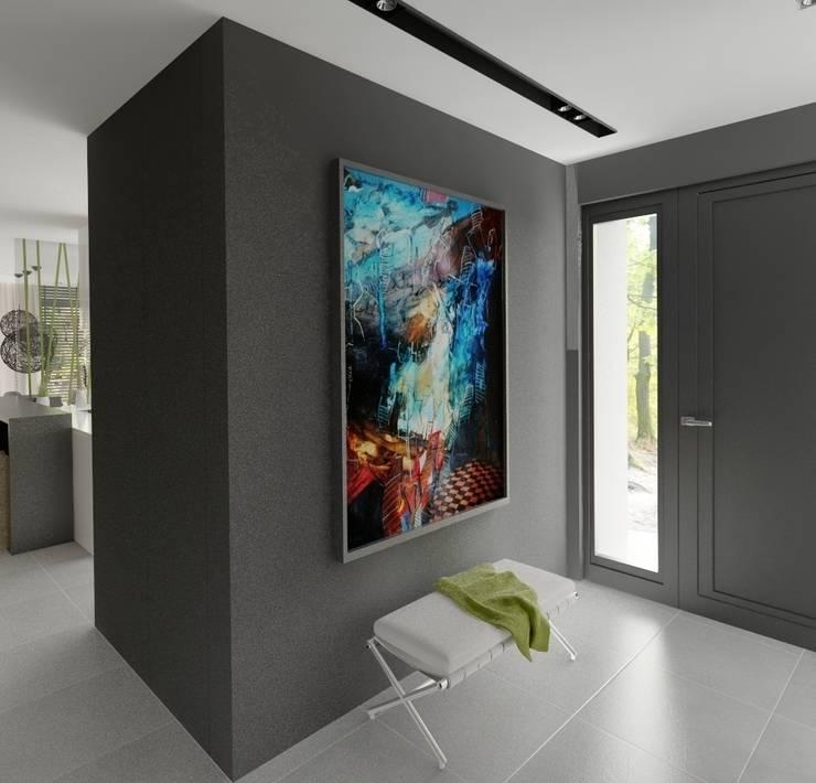 Wnętrza Domu w Warszawie: styl , w kategorii Korytarz, przedpokój zaprojektowany przez The Vibe,