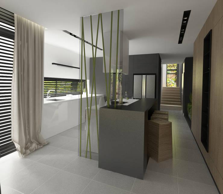 Wnętrza Domu w Warszawie: styl , w kategorii Kuchnia zaprojektowany przez The Vibe,