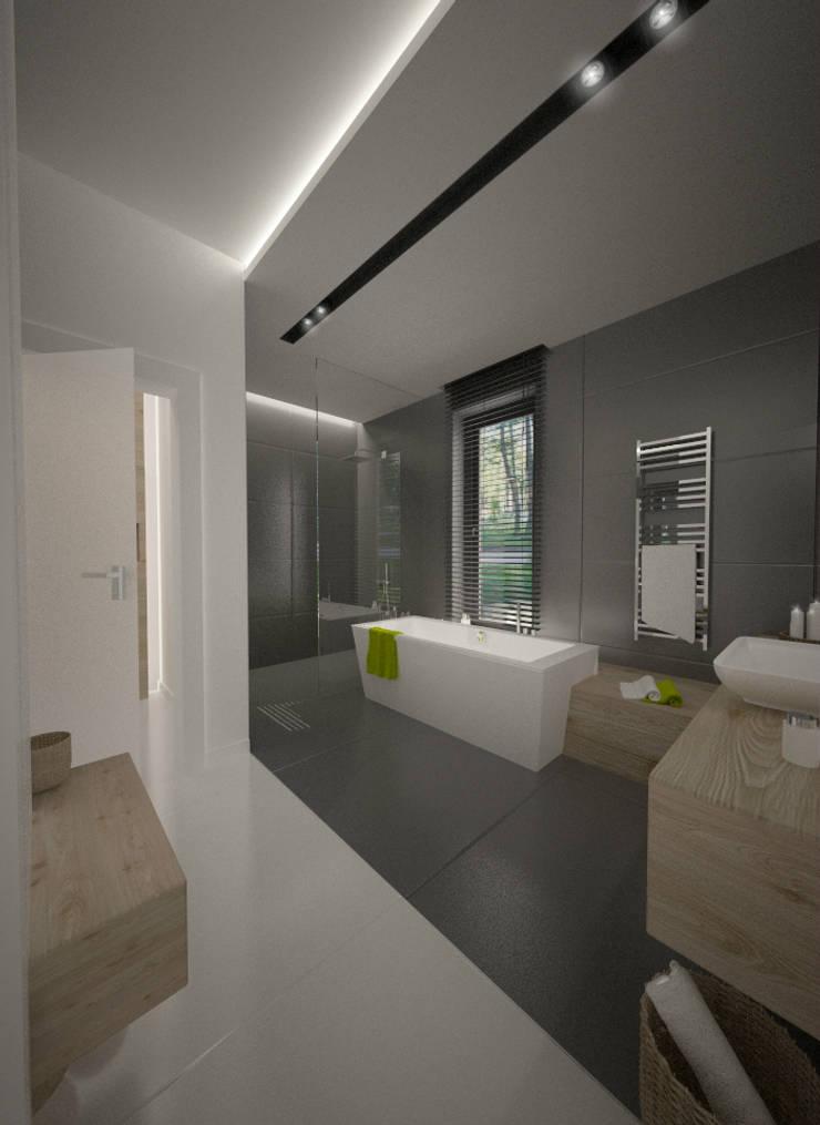 Wnętrza Domu w Warszawie: styl , w kategorii Łazienka zaprojektowany przez The Vibe,