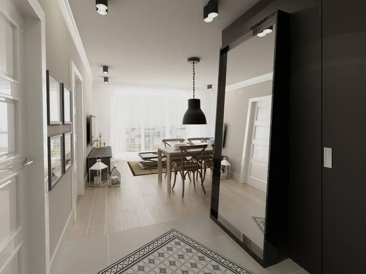 Apartament 39m2 Warszawa: styl , w kategorii Korytarz, przedpokój zaprojektowany przez The Vibe
