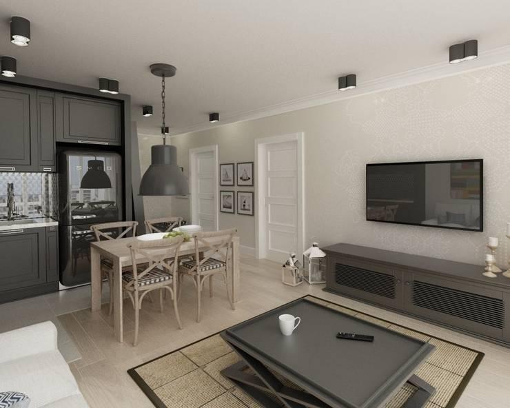 Apartament 39m2 Warszawa: styl , w kategorii Salon zaprojektowany przez The Vibe