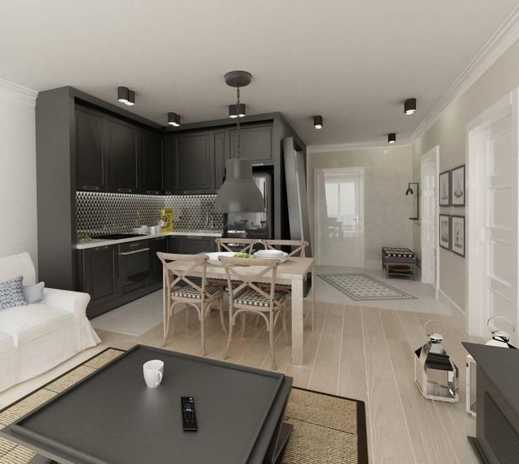 Apartament 39m2 Warszawa: styl , w kategorii Kuchnia zaprojektowany przez The Vibe