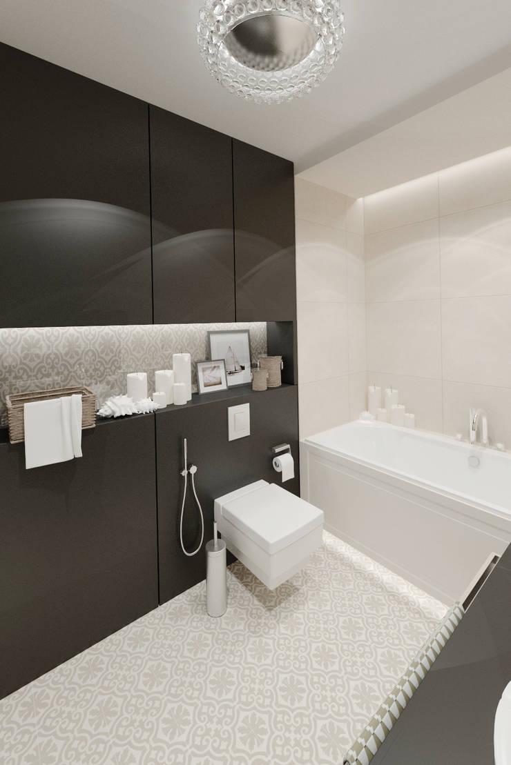 Apartament 39m2 Warszawa: styl , w kategorii Łazienka zaprojektowany przez The Vibe