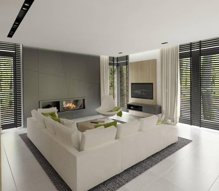 Wnętrza Domu w Warszawie: styl , w kategorii Salon zaprojektowany przez The Vibe,