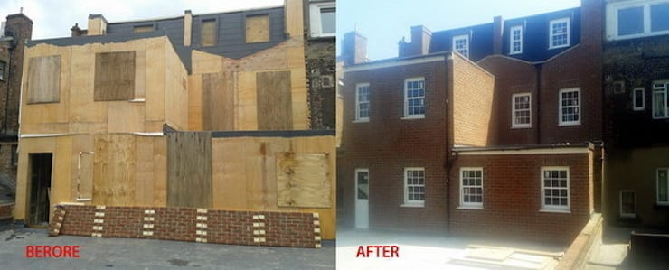 Before and After Extension Building:   by Fourways ML - The Brick Panels
