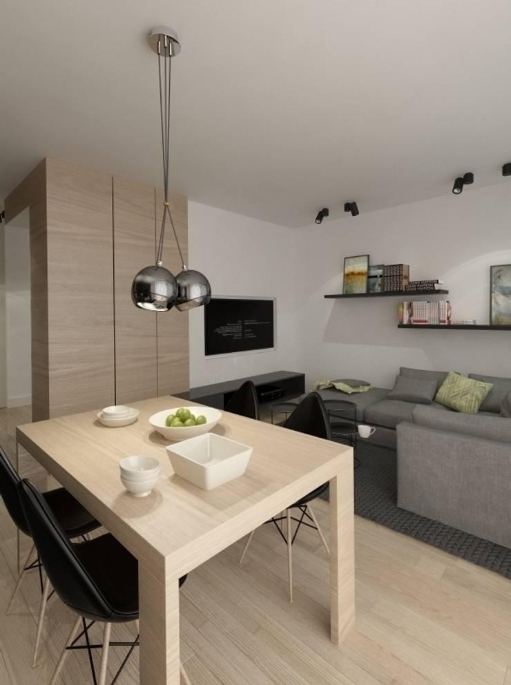 Apartament 60m2 Puławy: styl , w kategorii Salon zaprojektowany przez The Vibe