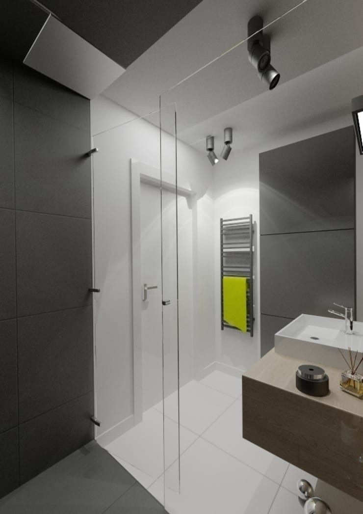Apartament 60m2 Puławy: styl , w kategorii Łazienka zaprojektowany przez The Vibe