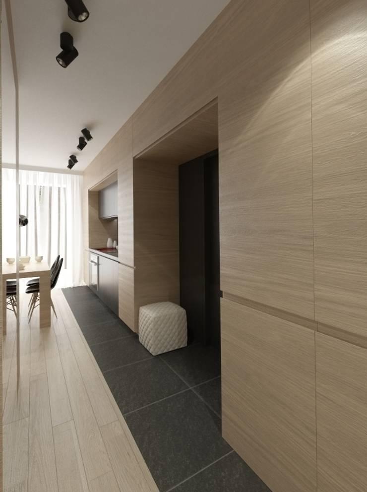 Apartament 60m2 Puławy: styl , w kategorii Korytarz, przedpokój zaprojektowany przez The Vibe