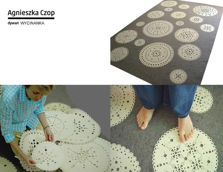 dywan WYCINANKA: styl , w kategorii Ściany i podłogi zaprojektowany przez Agnieszka Czop,