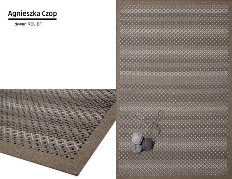 dywan RELIEF: styl , w kategorii Ściany i podłogi zaprojektowany przez Agnieszka Czop