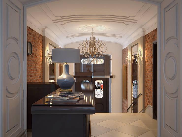 Отель на улице Чехова.Санкт-Петербург.: Коридор и прихожая в . Автор – АРТ АТЕЛЬЕ, Классический