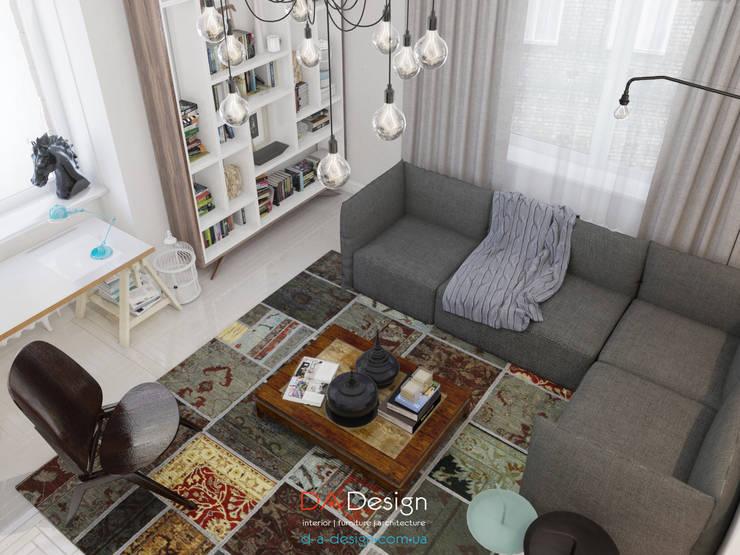 Гостиная в . Автор – DA-Design,