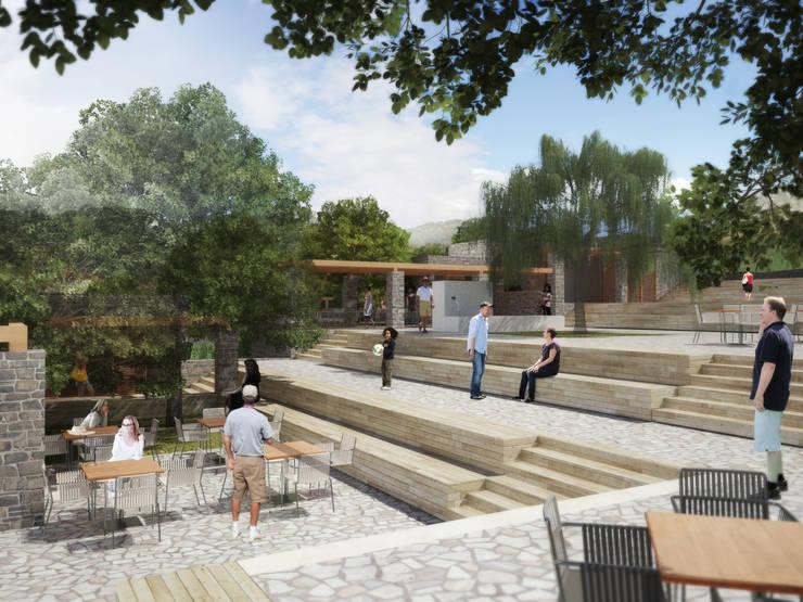 Atelye 70 Planners & Architects – Sandima Village Square:  tarz Bahçe