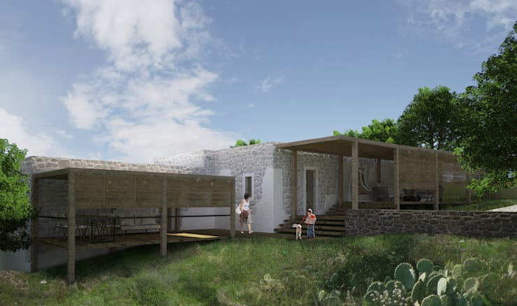 Atelye 70 Planners & Architects – Restorated House 1 - Front View:  tarz Evler