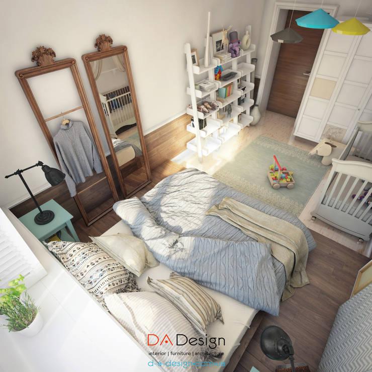 Спальни в . Автор – DA-Design,