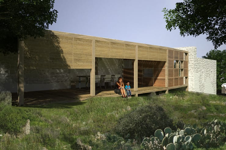 Atelye 70 Planners & Architects – Restorated House 1 - Back View:  tarz Evler
