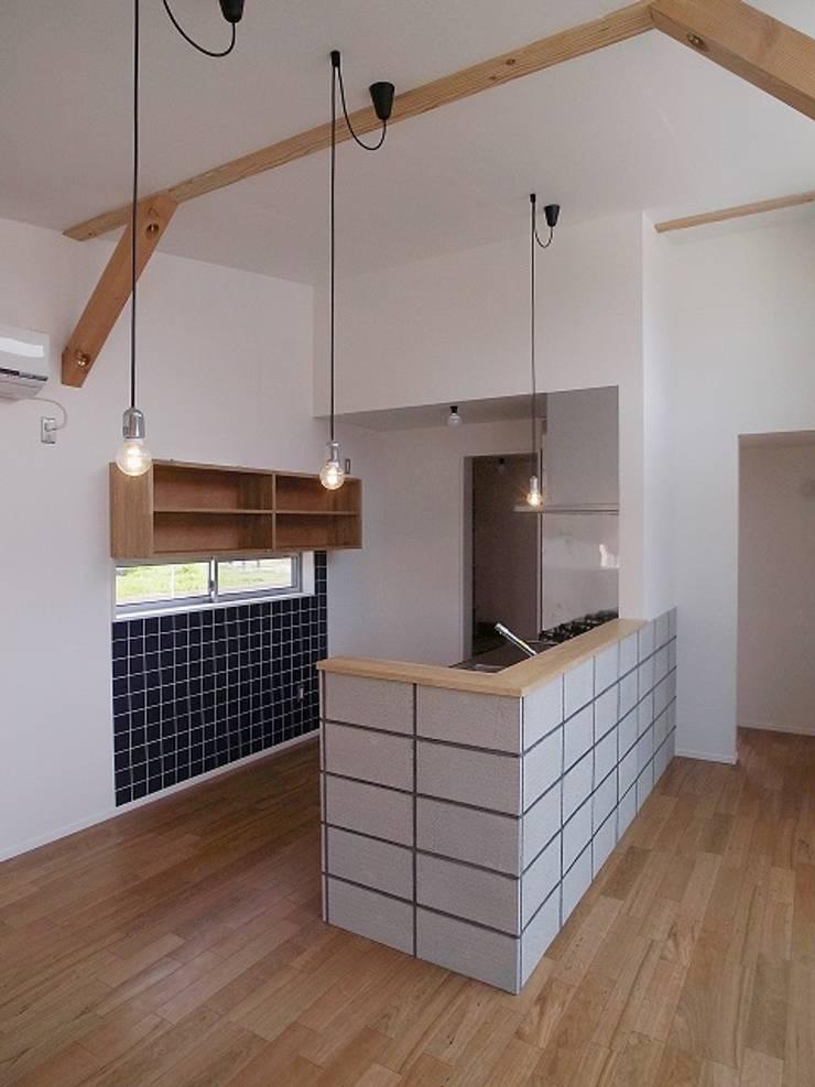 八幡の家Ⅱ: 萩野建築設計が手掛けたキッチンです。,オリジナル