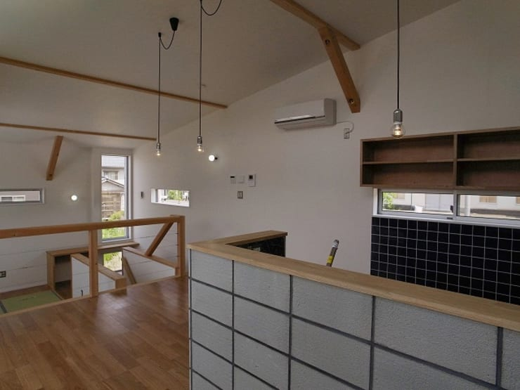八幡の家Ⅱ: 萩野建築設計が手掛けたダイニングです。,オリジナル