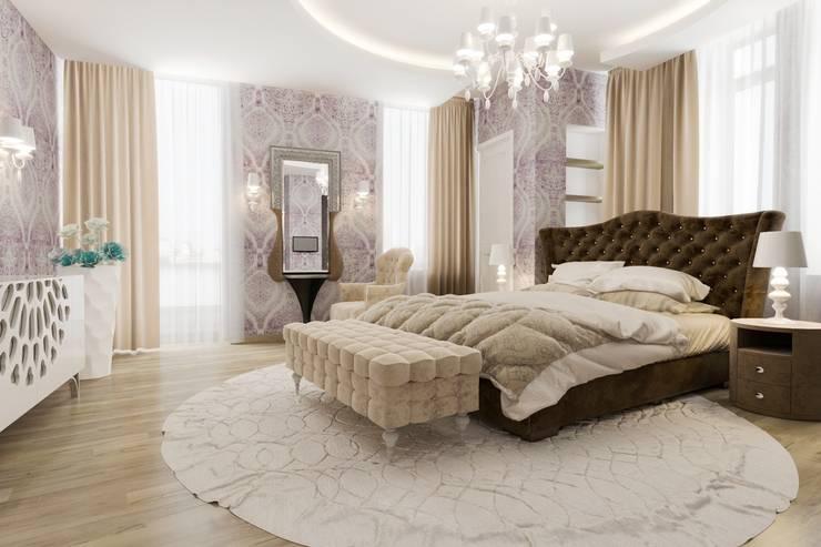 Спальня с кабинетом : Спальни в . Автор – pashchak design,