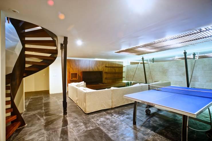 Projekty,  Salon zaprojektowane przez sanzpont [arquitectura]
