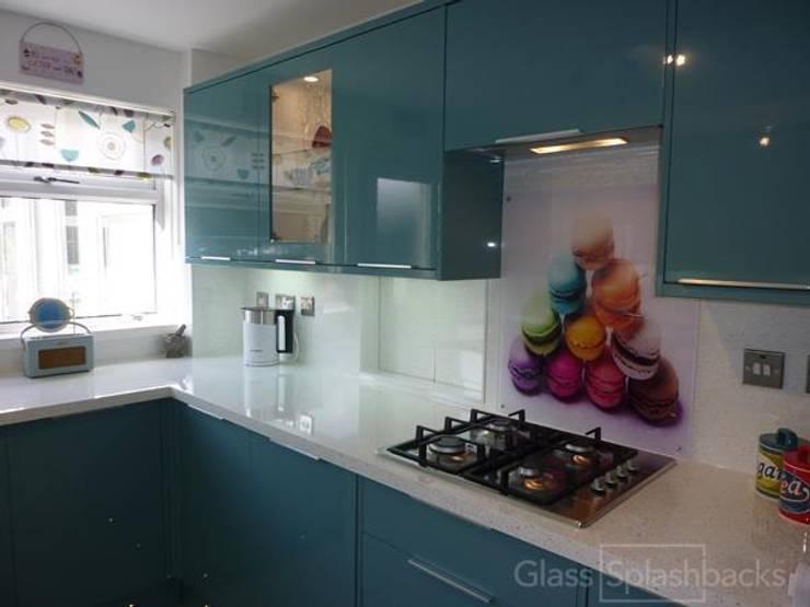 Rainbow Macaroons glass splashback :  Kitchen by DIYSPLASHBACKS