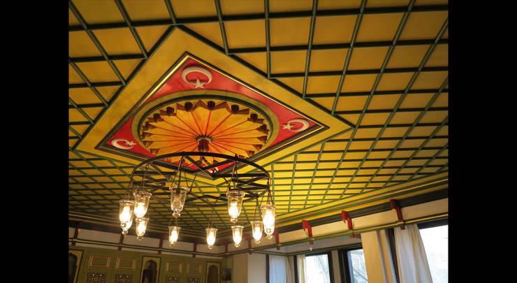 Türk Evi Kütüphanesi – Başoda Tavan:  tarz Oturma Odası