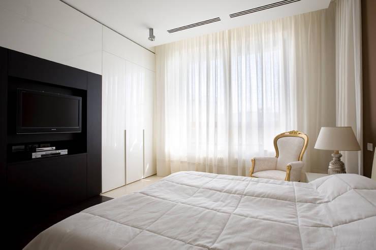 Квартира в Молочном переулке 270 м2: Спальни в . Автор – Gallery 63, Минимализм