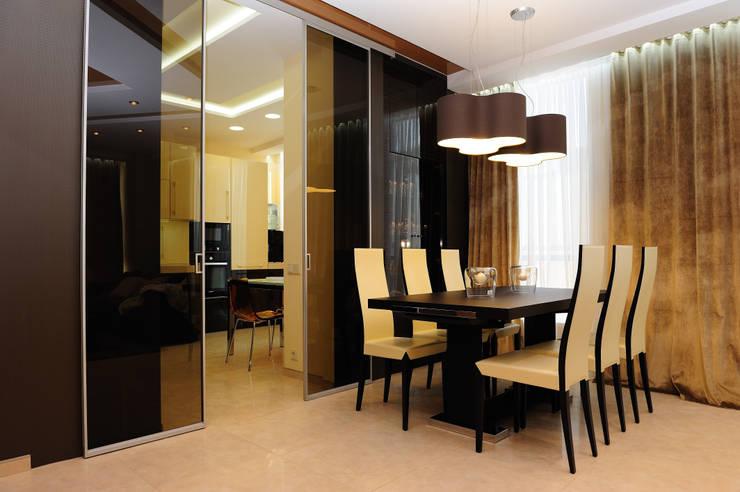 обеденная зона: Гостиная в . Автор – pashchak design
