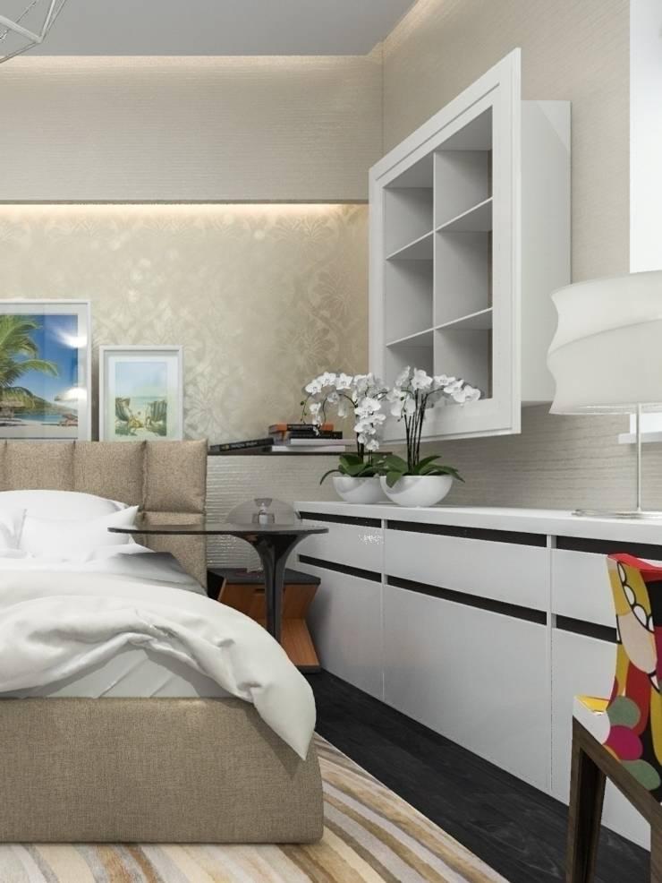 песочная спальня: Спальная комната  в . Автор – pashchak design