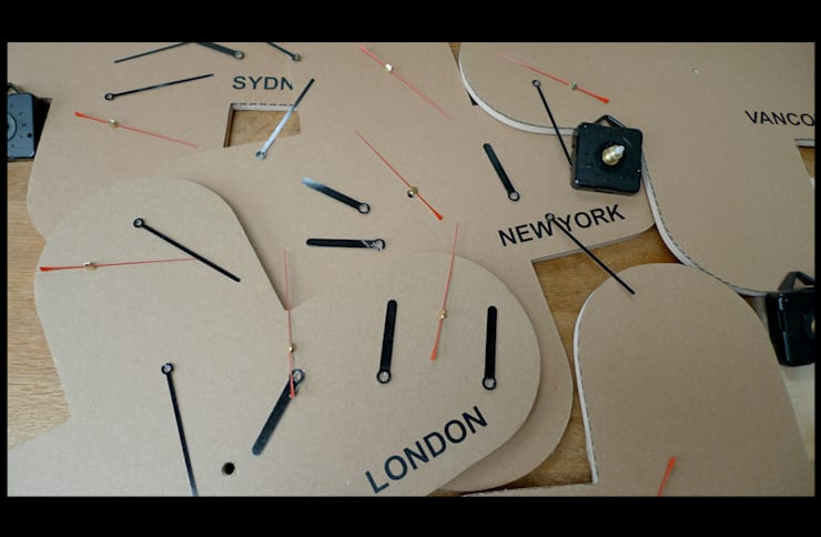 Time zone clocks:  Commercial Spaces by wayne maxwell