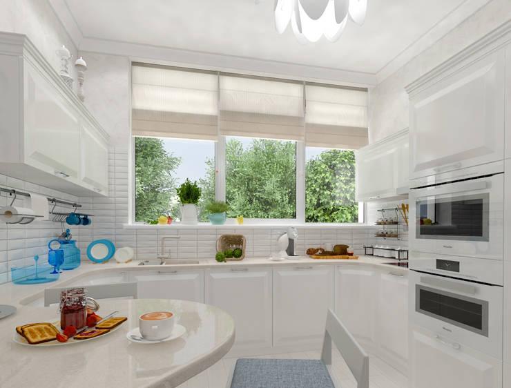 белая тарелочка: Кухня в . Автор – pashchak design