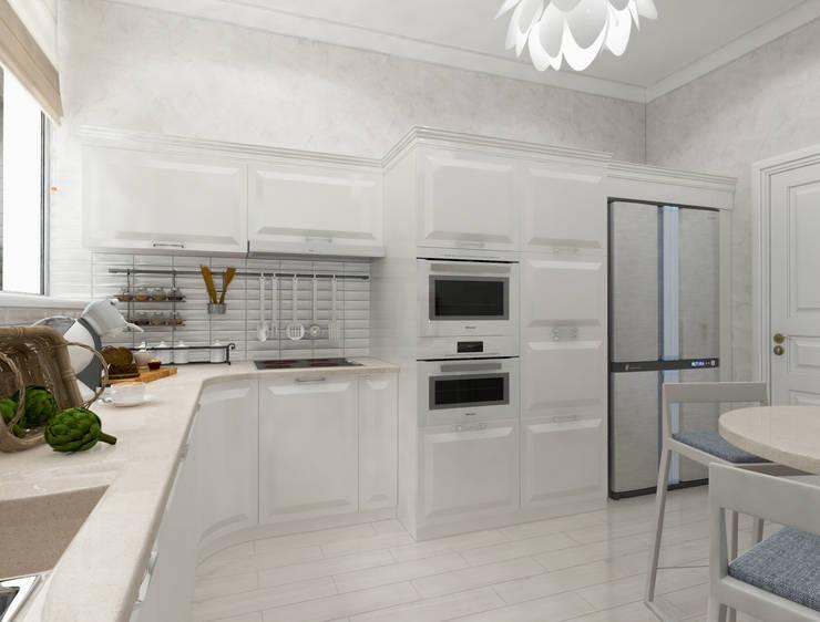белая тарелочка: Кухни в . Автор – pashchak design