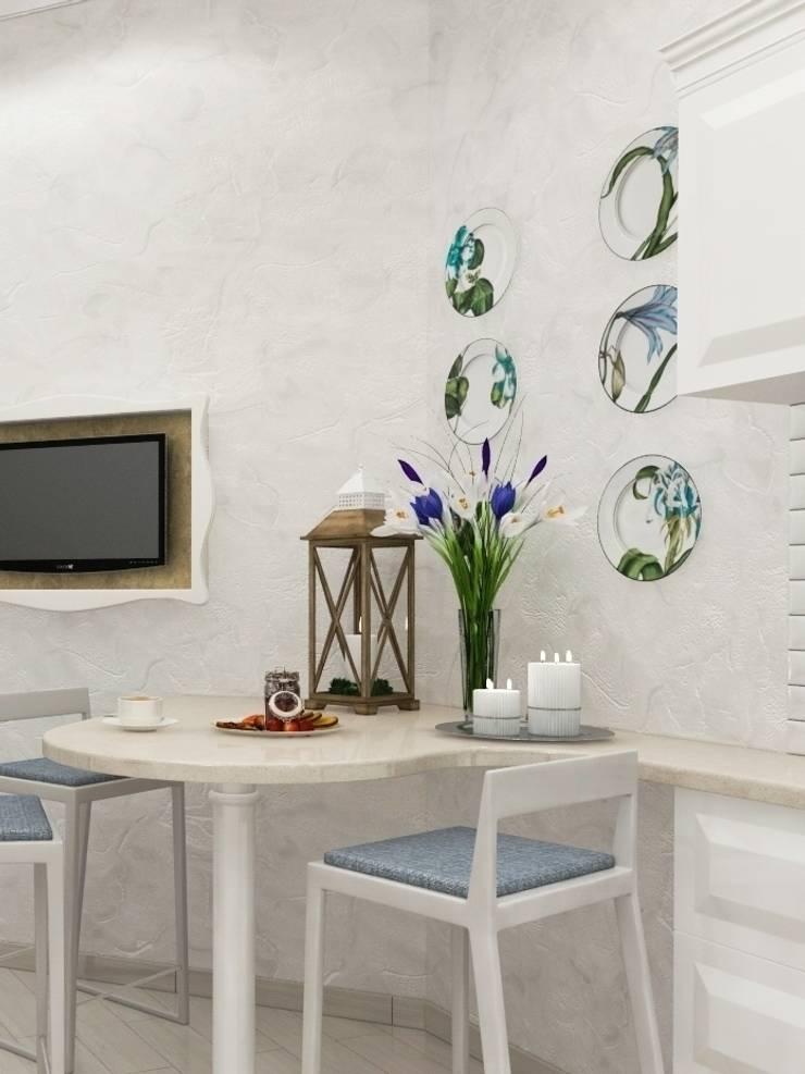 Белая тарелочка: Столовая комната в . Автор – pashchak design