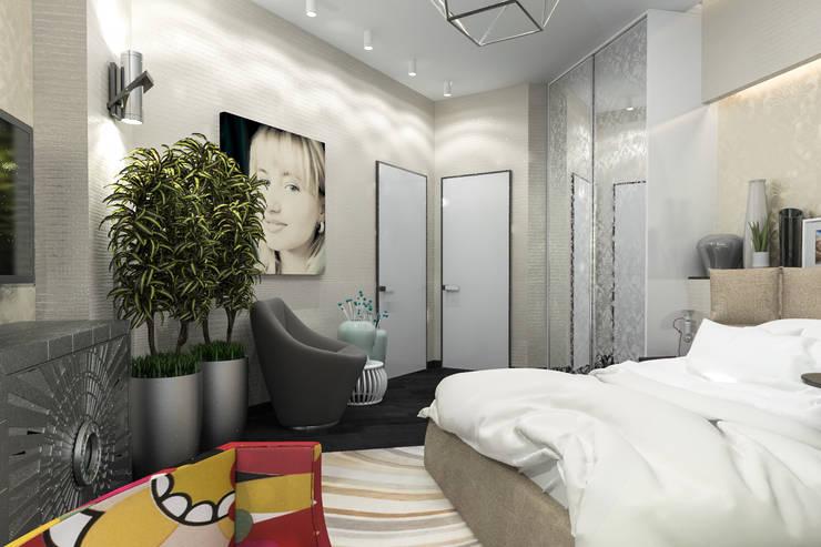 Песочная спальня: Спальни в . Автор – pashchak design