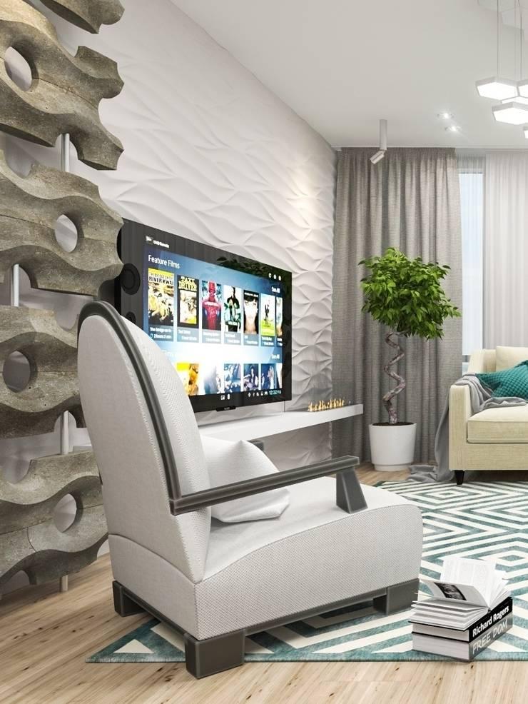 Средиземноморская гостиная: Гостиная в . Автор – pashchak design