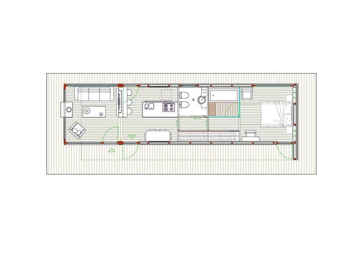 planimetria:  in stile  di  Giovanni Lucentini piccolo studio di architettura di 7 mq.