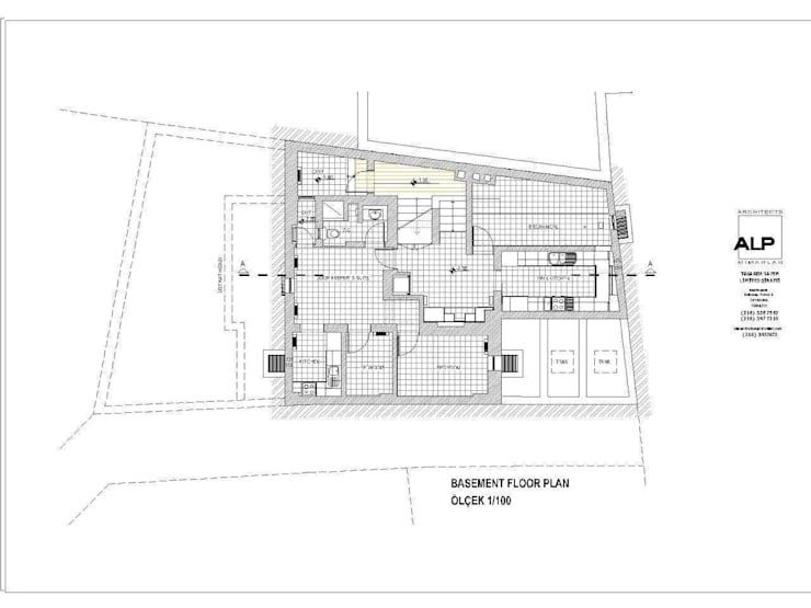 Alp Architects – Bodrum Kat:  tarz
