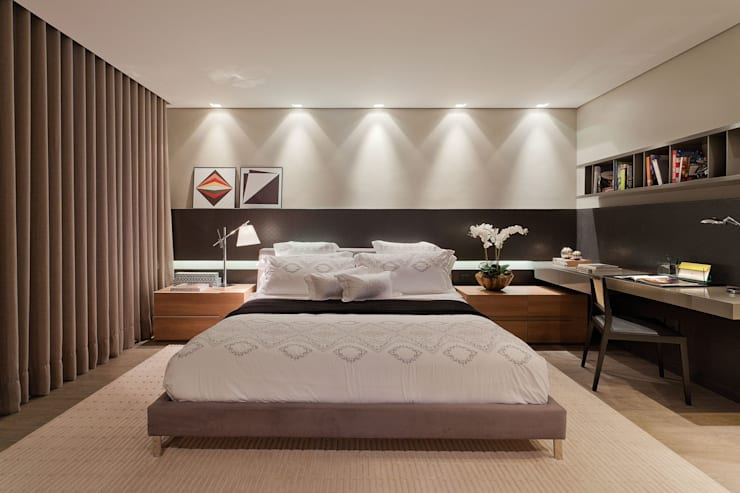 Habitaciones de estilo  por LEDS Arquitetura