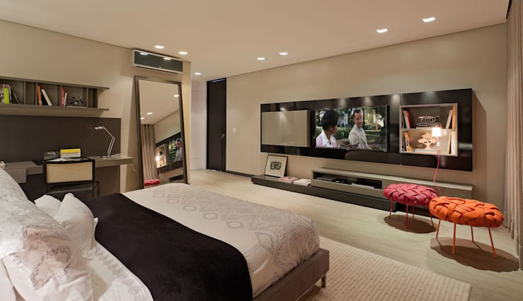 modern Bedroom by LEDS Arquitetura