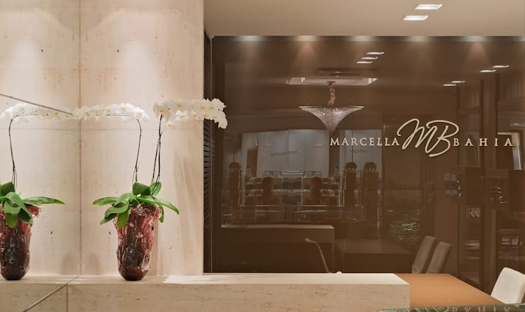 Joalheria Marcella Bahia: Lojas e imóveis comerciais  por LEDS Arquitetura,Moderno