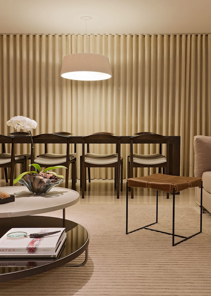 Apartamento Cennario Salas de estar modernas por LEDS Arquitetura Moderno