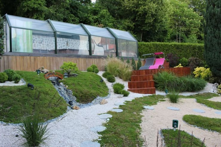 Gleen Tay: Jardin de style  par SAS Glenn Tay Paysagiste