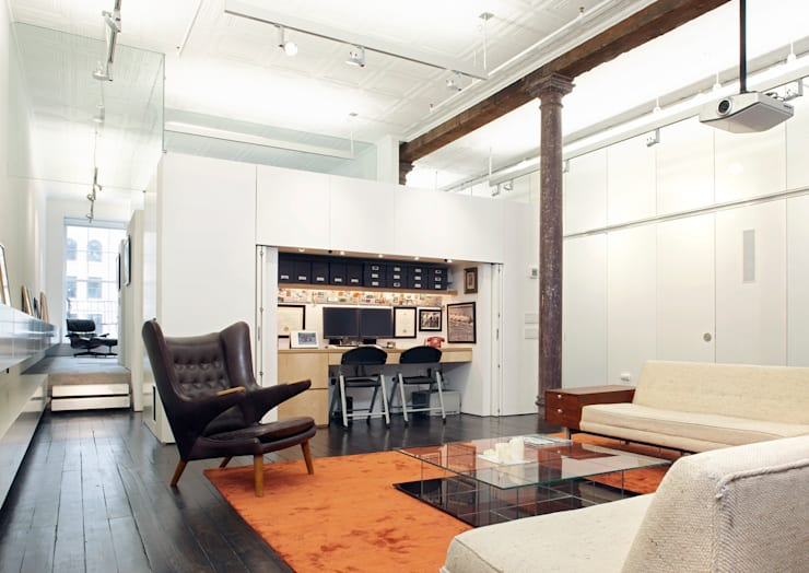 Greene Street Loft:  Study/office by Slade Architecture