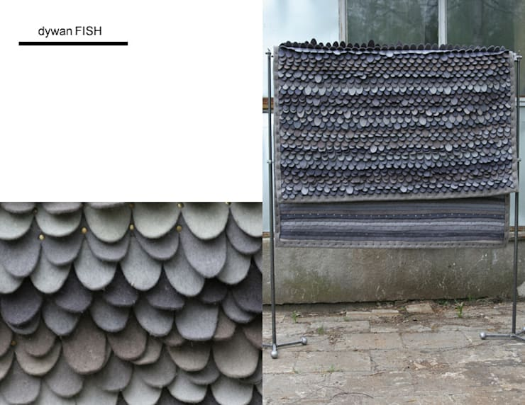 dywan FISH: styl , w kategorii Ściany i podłogi zaprojektowany przez Agnieszka Czop