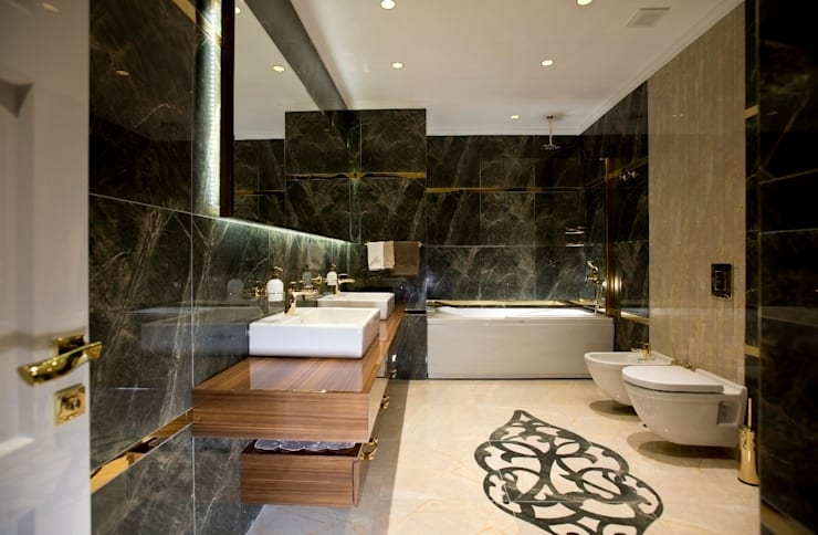 Bathroom by BABA MİMARLIK MÜHENDİSLİK
