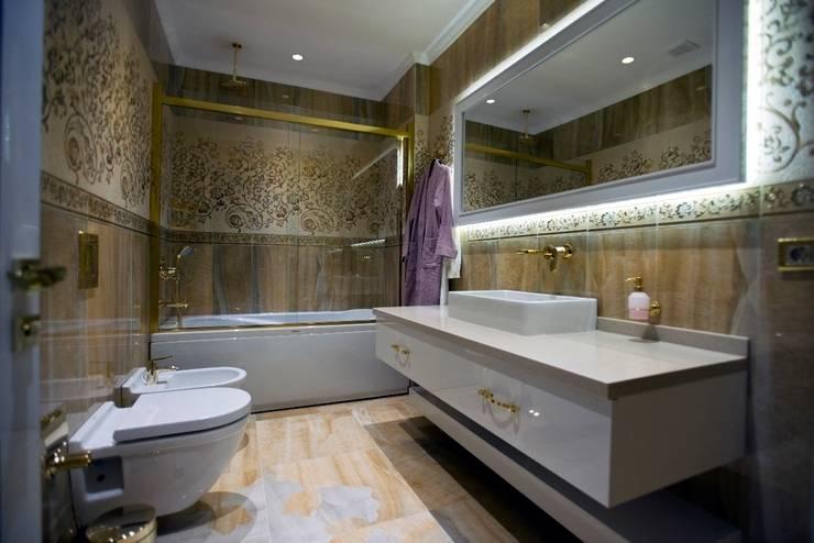 Ванные комнаты в . Автор – BABA MİMARLIK MÜHENDİSLİK