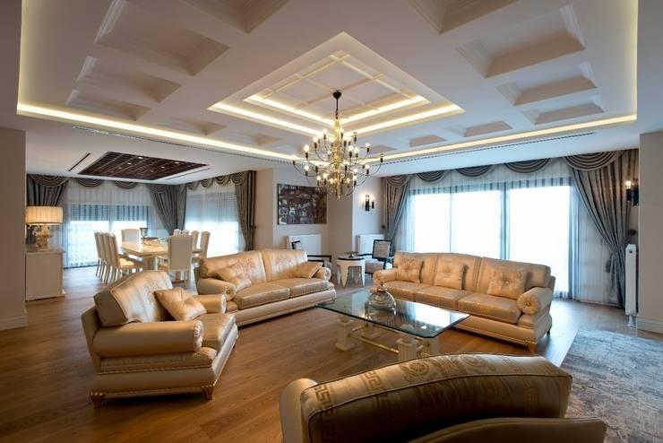 BABA MİMARLIK MÜHENDİSLİK – Yeşil Vadi Erguvan Evi, İstanbul.: klasik tarz tarz Oturma Odası