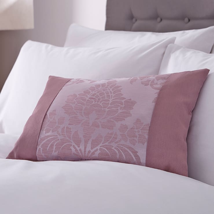 Charlotte Thomas Anastasia Cushion Cover in Dark Pink:  Bedroom by We Love Linen